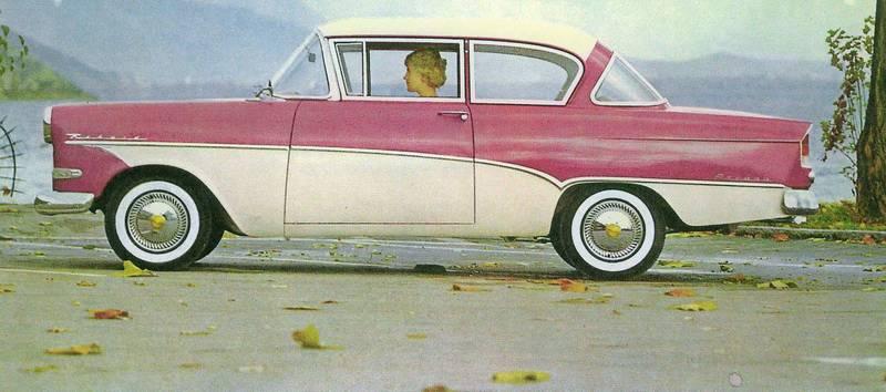 Panoramic In Pink 1958 Opel Olympia Rekord